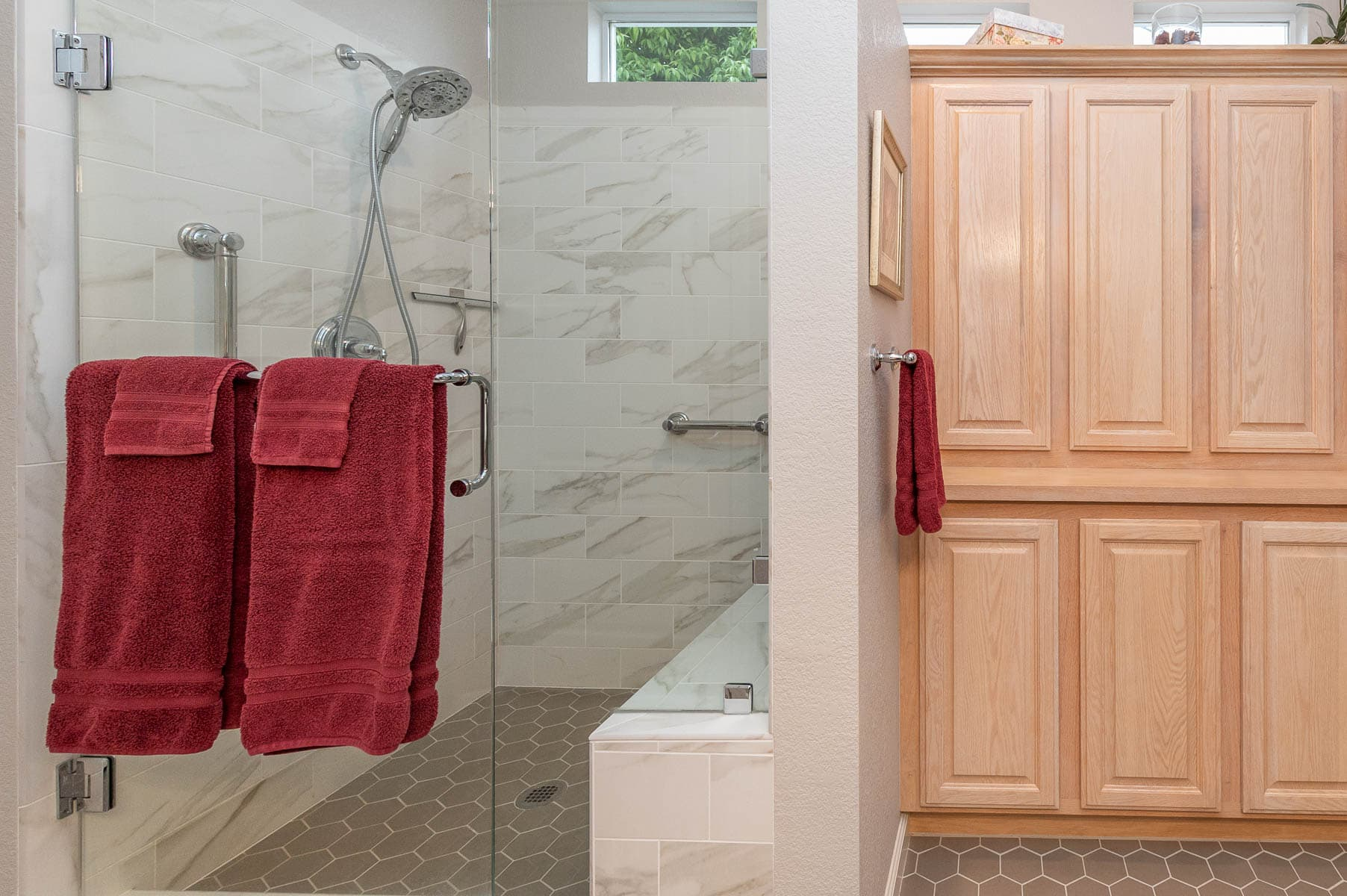 Bathroom remodel in Del Webb Community in Cloverdale, CA.